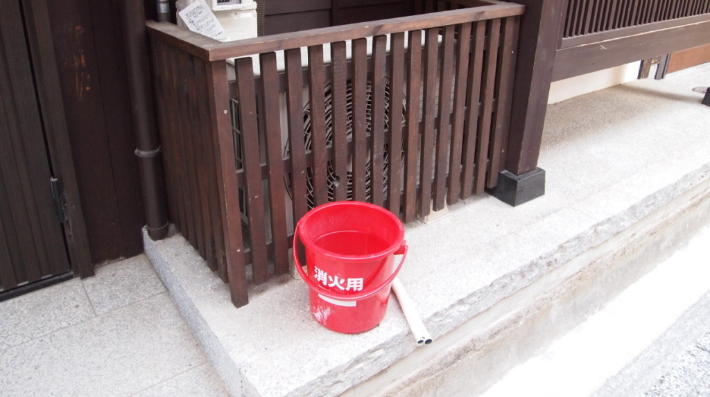 Fire prevention buckets everywhere
